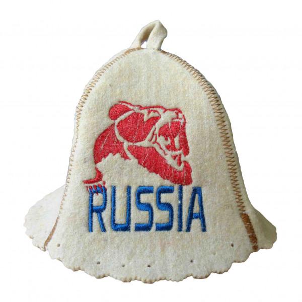 """Filzhut für Sauna, """"Russia, der Bär """""""