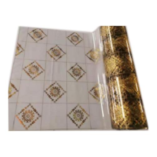 """Tischdecke PVC """"3D"""", Goldene Quadrate, 90cm/15m"""