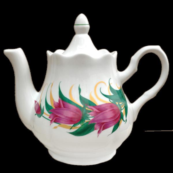 "Teekanne aus Porzellan 1750 ml ""Nostalgie"" - ""Tulpen"""