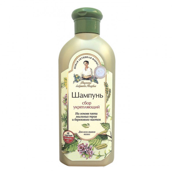 "Oma Agafja - Shampoo mit Kräuter "", "" Stärkend"", 350 ml"