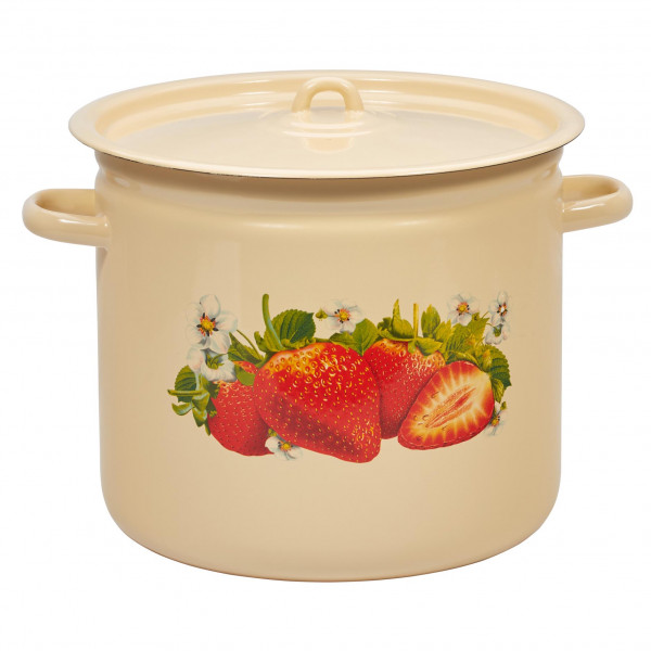 """Topf, emailliert """"Erdbeere"""", 12,0 L"""