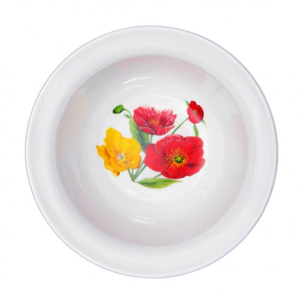 """Schüssel aus Porzellan 550 ml """"Nostalgie"""" - """"Feldmohnblumen"""""""