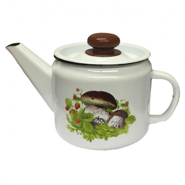 "Teekanne, emailliert, 1,0 L ""Pilze"""