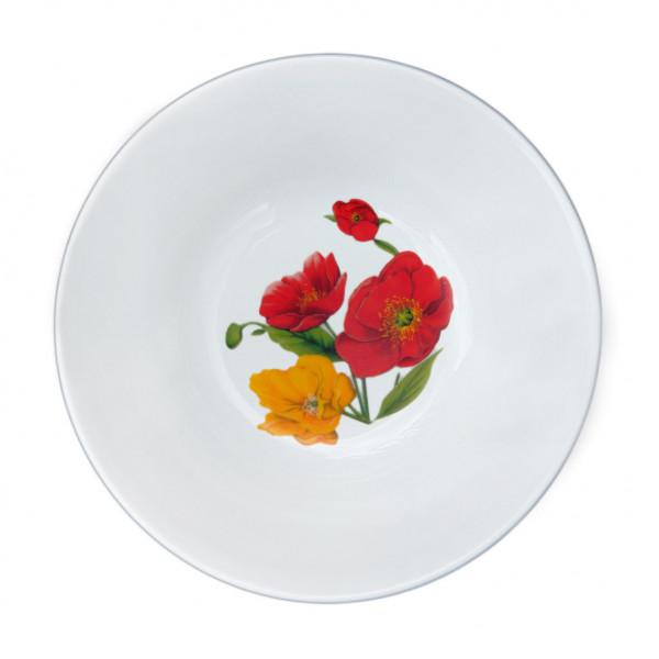 "Salatteller aus Porzellan 360 ml ""Nostalgie"" - ""Feldmohnblumen"""