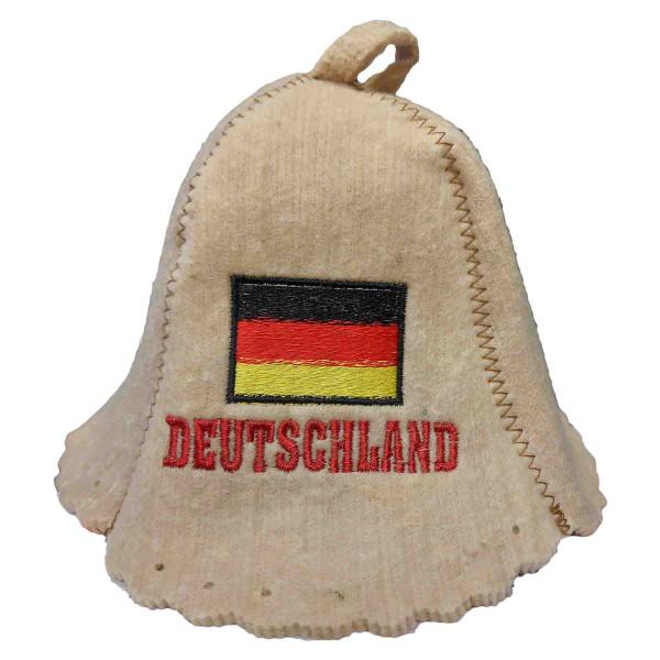 """Filzhut für Sauna, """"Deutschland"""""""