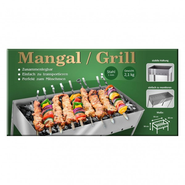 "Mangal-Grill ""Compact"", 50x50x30 cm, Stahl 1 mm"