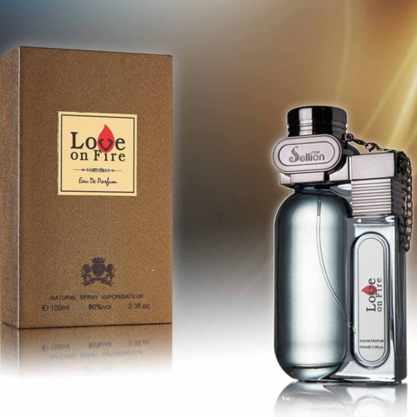 "Parfum für Herren ""Love on Fire"", Braun"