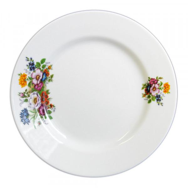 """Teller aus Porzellan 20 cm """"Nostalgie"""" - """"Blumenwiese"""""""