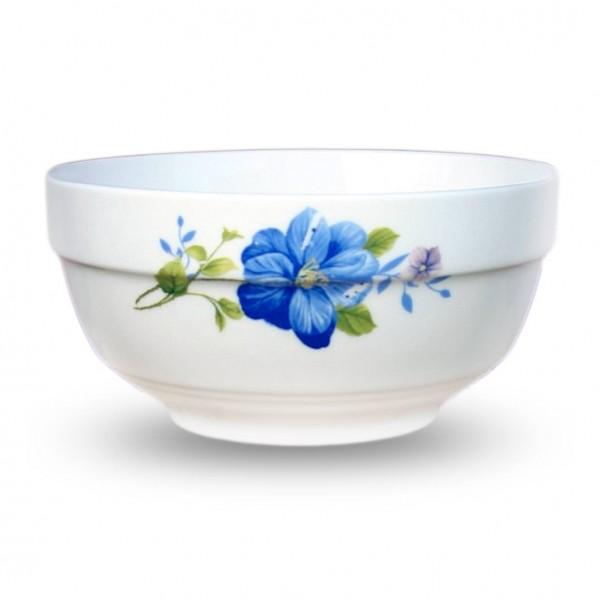 """Schüssel aus Porzellan """"Blaue Mohnblumen"""", 14 cm"""