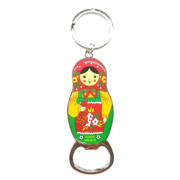 """Schlüsselanhänger mit Flaschenöffner """"Matröschka"""""""