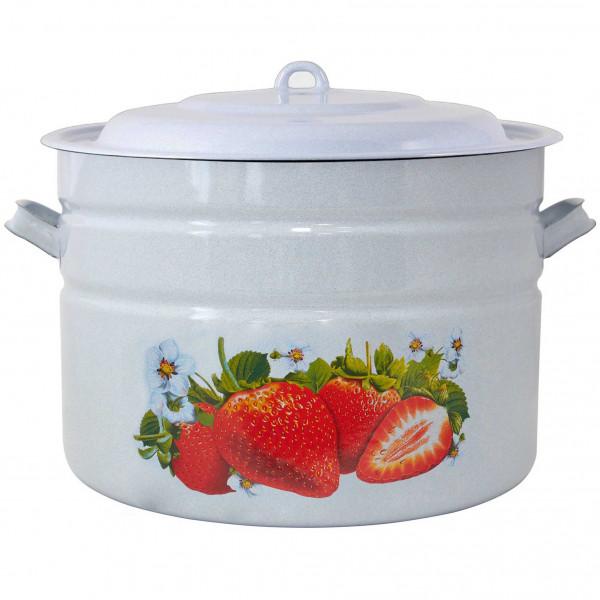 """Topf, emailliert """"Erdbeere"""", 40,0 L"""