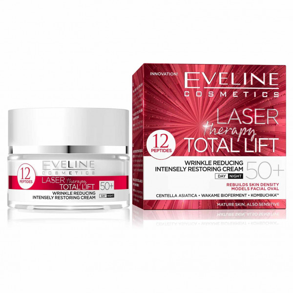 """Eveline """"Laser Therapy Total Lift"""" Gesichtscreme 50+, 50ml"""