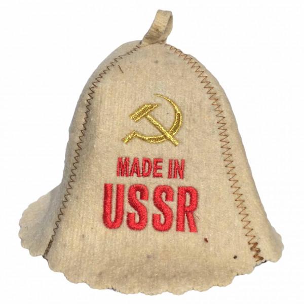 """Filzhut für Sauna, """"Made in USSR"""""""
