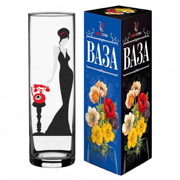 "Vase ""Red Line"", ""Lady in Black"", H 26 cm"