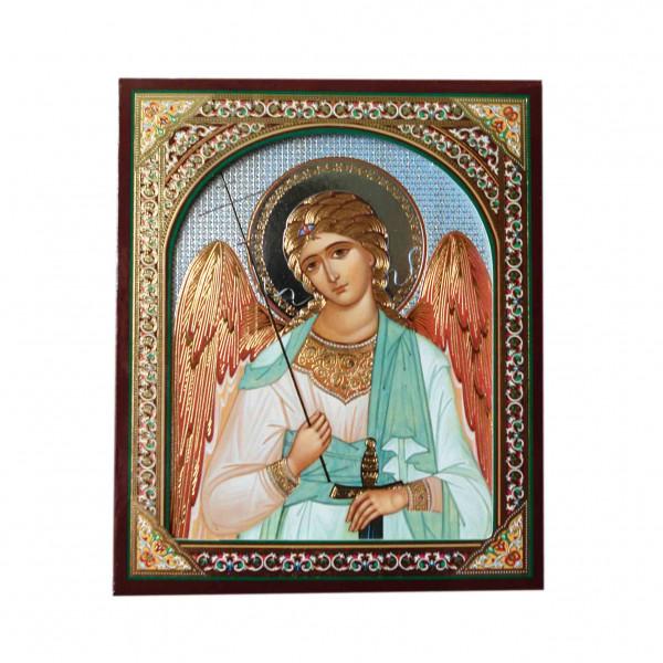 "Ikone (Holz), in Kartonbox, ""Angel Chranitel"", 10x12 cm"