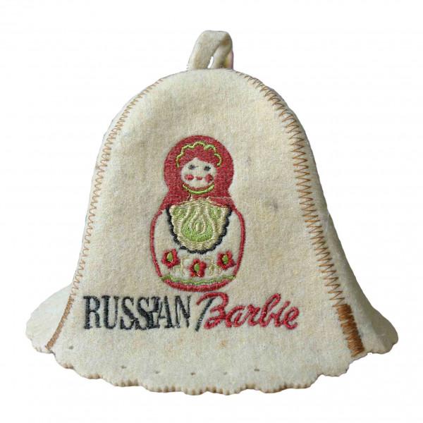 "Filzhut für Sauna, ""Russian Barbie """