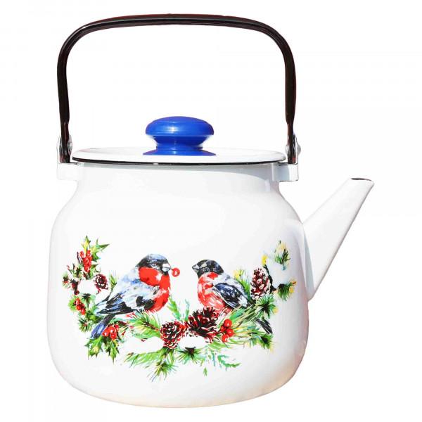 """Teekanne, emailliert, 3,5 L """"Snegiri"""" (Weiß)"""