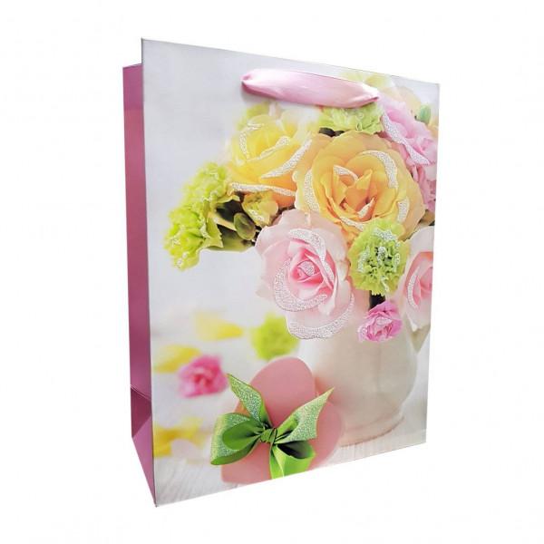 """Geschenktasche """"Rosen"""", S, 18x23 cm"""
