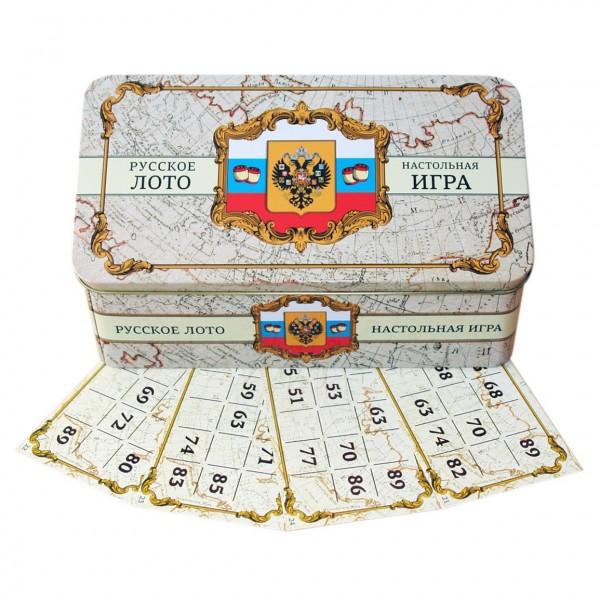 "Brettspiel ""Russkoe Loto - Russia"" in Metallbox"