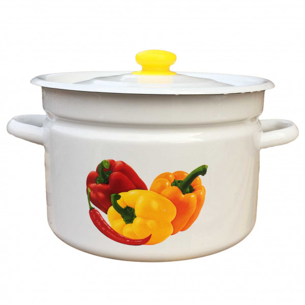 """Topf, emailliert """"Paprika"""", 9,0"""