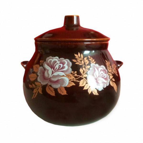"Keramiktopf ""Dekor"", ""Rosen"" 650 ml, Set aus 6 St."