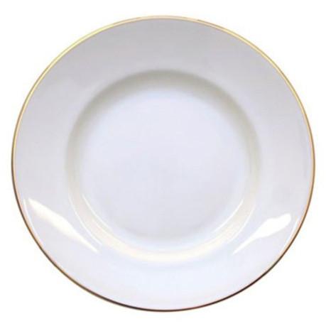 """Suppenteller aus Porzellan 20 cm """"Nostalgie"""" - """"Weiß mit Gold"""""""