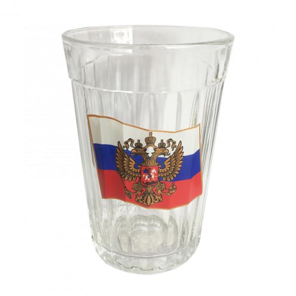 """Glas """"Granenyj"""", 250 ml, """"Flagge von Russland"""""""