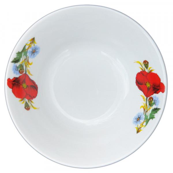 """Salatteller aus Porzellan 1150 ml """"Nostalgie"""" - """"Rote Mohnblumen"""""""