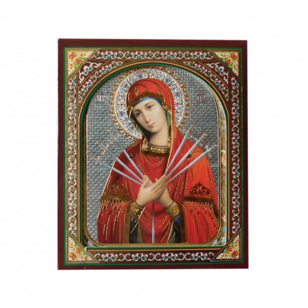 "Ikone (Holz), in Kartonbox, ""Semistrelnaja"", 10x12 cm"