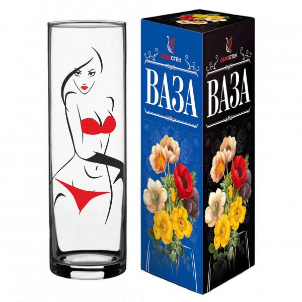 """Vase """"Red Line"""", """"Bikini"""", H 26 cm"""