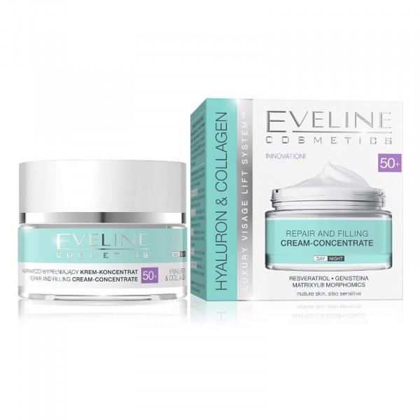 """Eveline """"Hyaluron & Collagen"""" Gesichtscreme 50+, 50ml"""