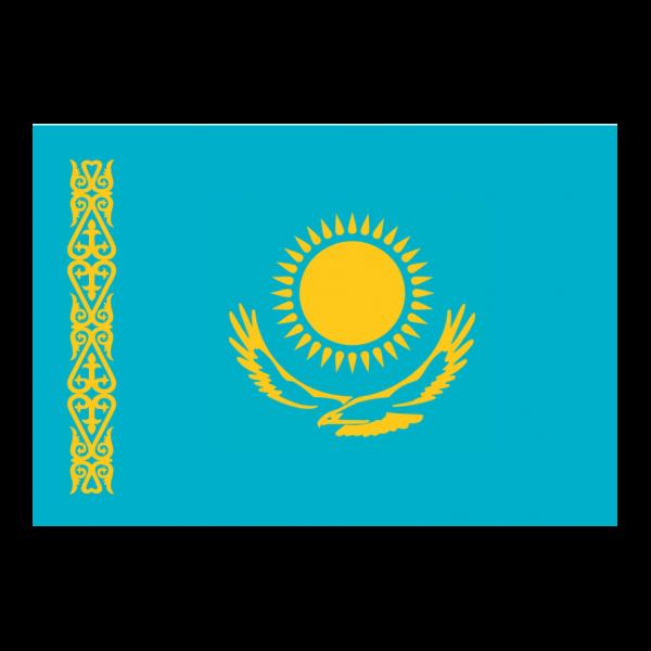Flagge, 90 x 145 cm, Kasachstan