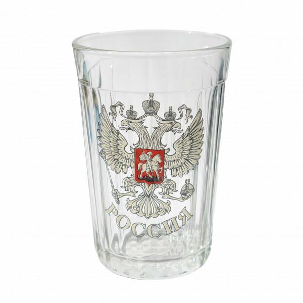 """Glas """"Granenyj"""", 250 ml, """"Wappen von Russland"""""""