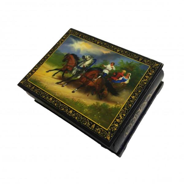 """Souvenir Schatulle """"Russisch Trojka"""", 10,5x8x4 cm"""