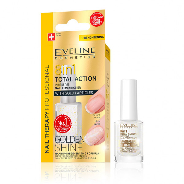 "Eveline - Nagelpflege professionelle ""Golden Shine"", 8 in 1"