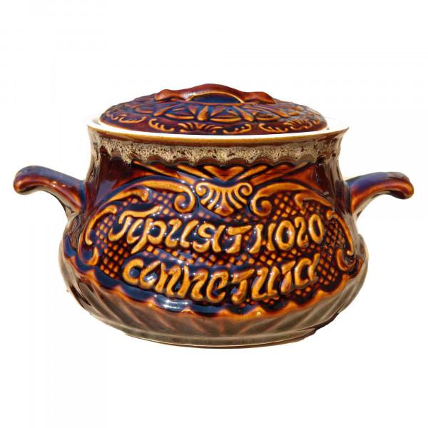 "Backtopf Keramik, ""Guten Appetit"", glanz, 3 l"