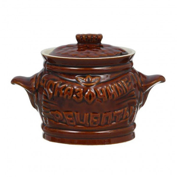 "Keramiktopf mit Glanz ""Skasotschnij Recept"" , 650 ml, Set aus 6 St."