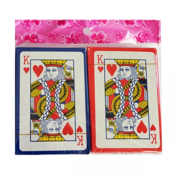 Spielkarten aus Plastik, 54 St., Set aus 2 Stapel