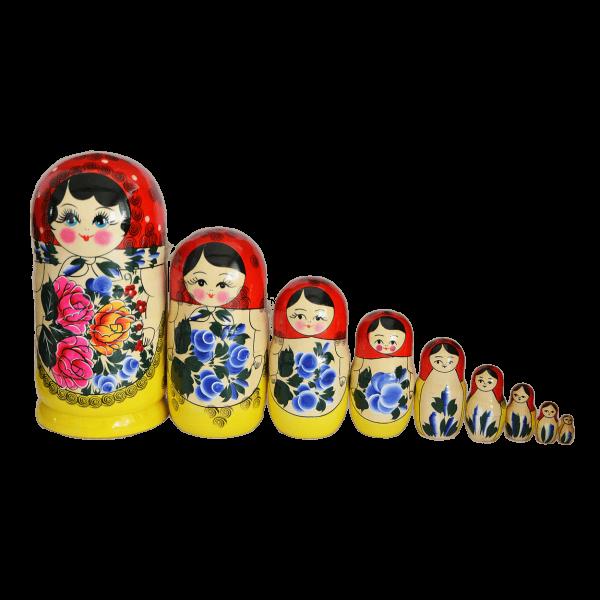 """Matröschka """"Semönovskaja"""", 24 cm (9-10 Figuren)"""
