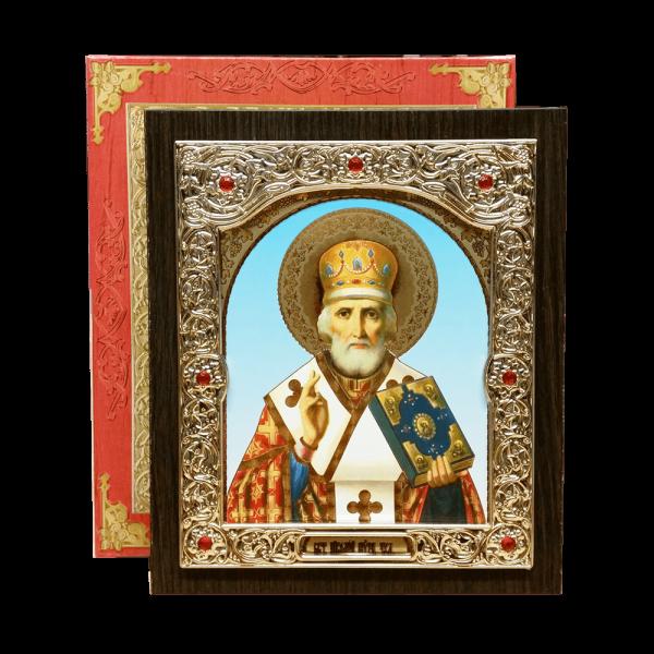 Ikone (Holz) mit Prägung, in Geschenkbox, 15x18 cm