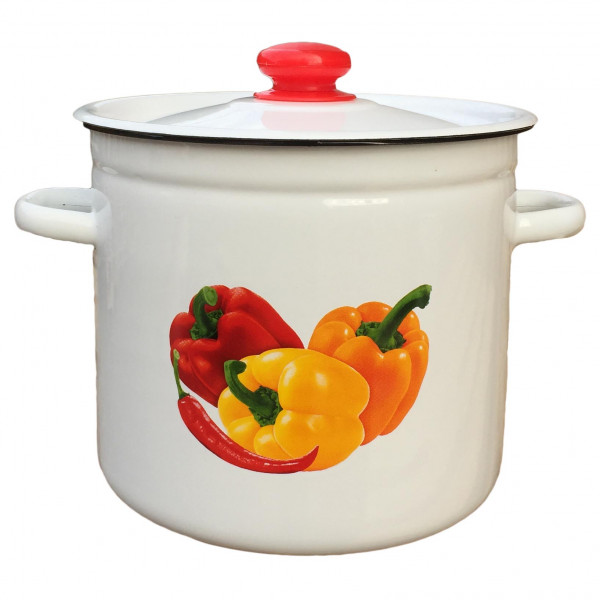 """Topf, emailliert """"Paprika"""", 7,0 L"""