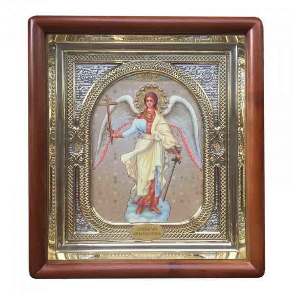 """Ikone mit Holzrahmen in Geschenkbox, """"Angel"""", 15x18 cm"""