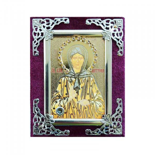Ikone (Holz in Samt), Matrona (Gold), 6х9 cm