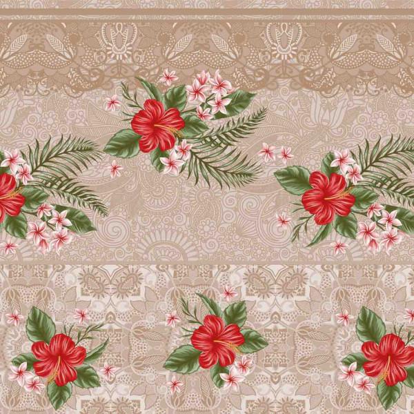Tischdecke М, Rote Blume, 20x1,4 m