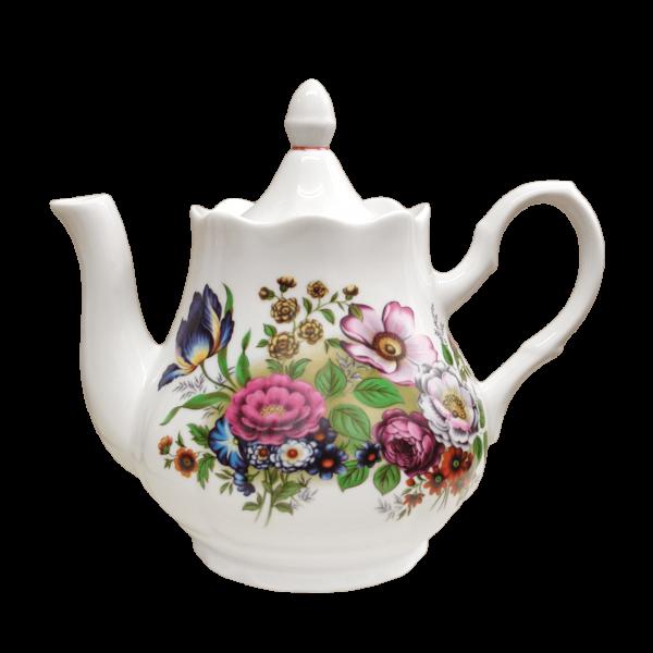 """Teekanne aus Porzellan 800 ml """"Nostalgie"""" - """"Blumenwiese"""""""
