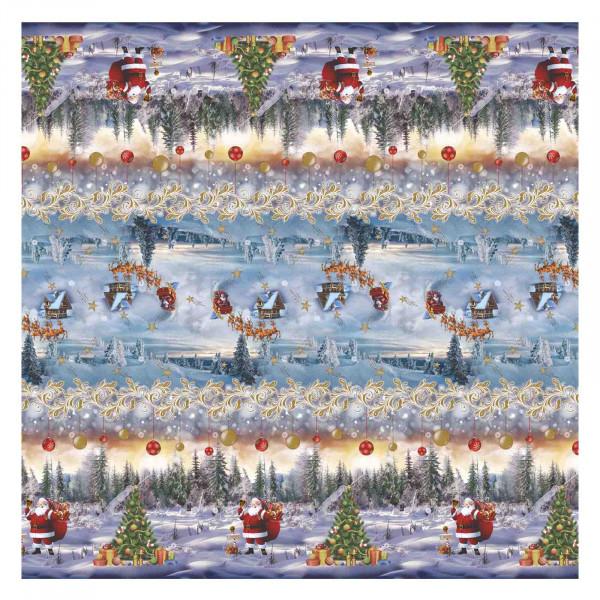 Tischdecke М, Weihnachten (Hellblau) , 20x1,4 m