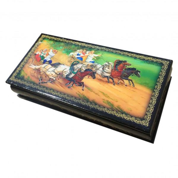 "Souvenir Schatulle ""Zwei dreifache Pferde"", 17,5х8,5х4 cm"