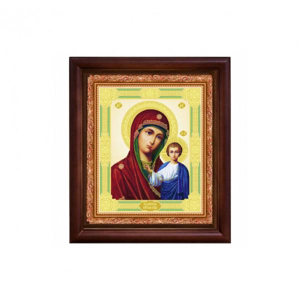"Ikone mit Holzrahmen, ""Kasanskaja"" 15x18 cm"