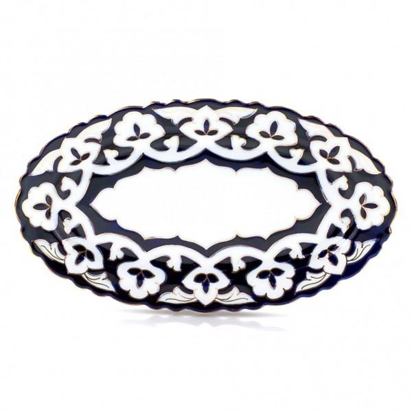 """Teller oval """"Pachta Gold"""" aus Porzellan, 29 cm"""