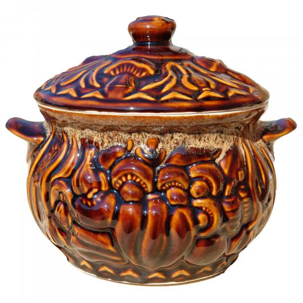 "Backtopf Keramik, ""Pilze"", glanz, 3 l"